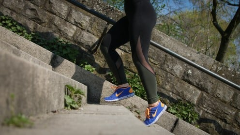 Another option for HIIT is steps.