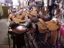 A truly well equipped horse riding equipment store.