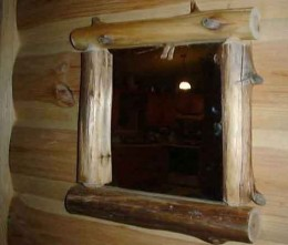 A wall mirror can suit rustic decor as well.