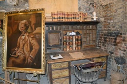 Mark Twain's desk and chair