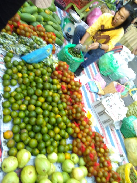 Local fruits from the sunday market in Ghaya