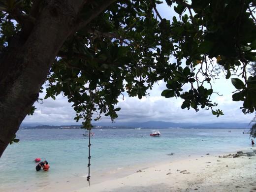 One of the many lovely islands in Kota Kinabalu