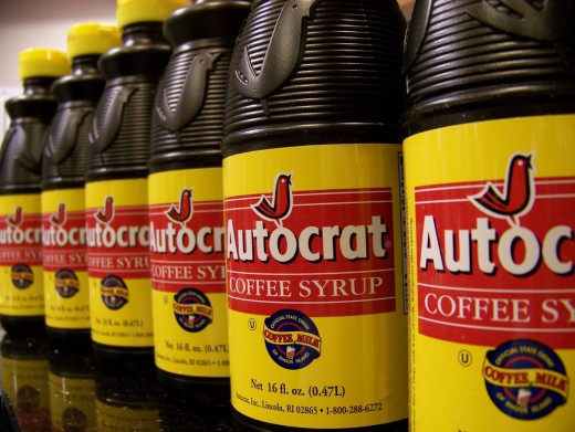 Autocrat coffee syrup for coffee milk.