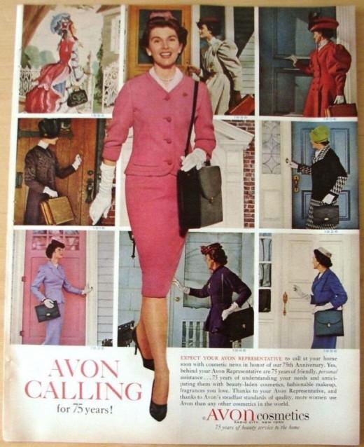 """Avon Lady Calling"" Vintage direct sales"