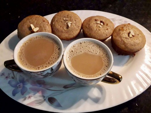 Serve the cupcakes with homemade coffee.