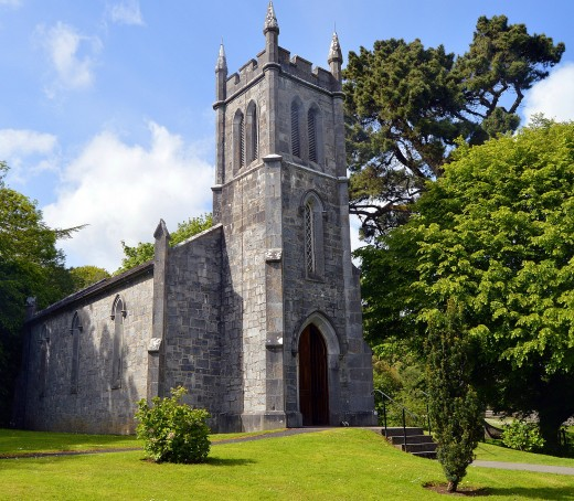 Ardcroney Church was moved stone by stone from County Tipperary and rebuilt in the Folk Park.