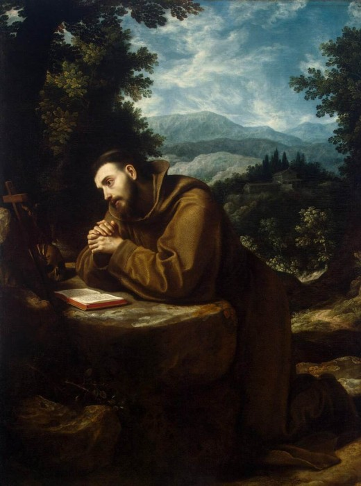 Saint Francis in meditation and contemplation