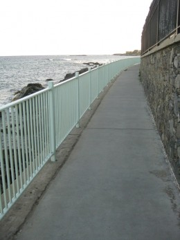 The Cliff Walk in Newport.
