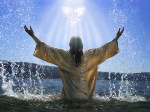 """Mat 3:17 """"...behold, a voice out of the heavens said, 'This is My beloved Son in whom I am well pleased.'"""""""