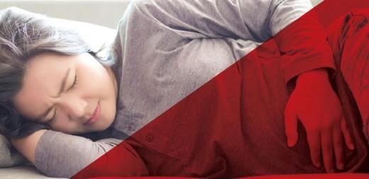 woman having menorrhagia