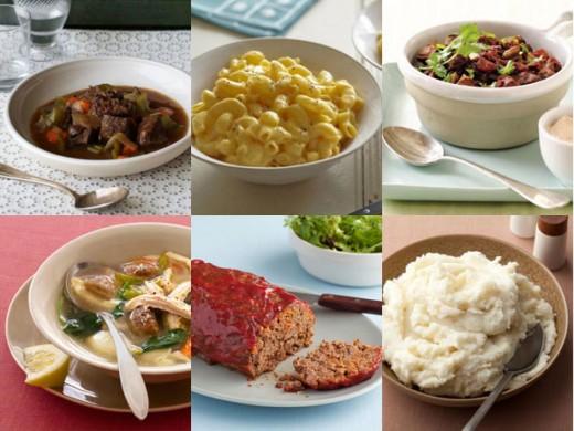 A few comfort foods