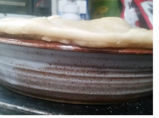 You will need to squish top crust edge and bottom crust edge together to seal the pie.
