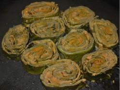 Taro Leaf Rolls (Alu Vadi) Recipe
