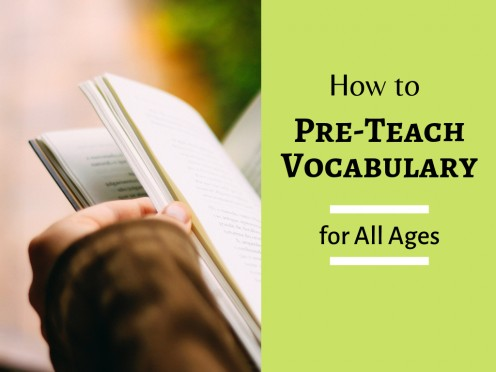 How to Pre-Teach Key Vocabulary to English Language Students