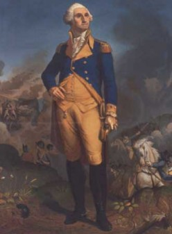 "George worked with the English Army at first, but broke away for national Independence. IN the book, Sally always called him ""Young Washington."" Patsy always called him ""old man."""