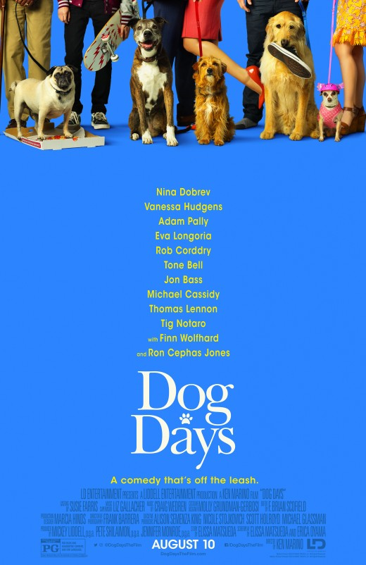 The movie is filled with owners and their adorable dogs.