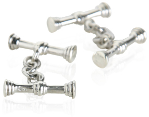 These Sterling Silver Stick Cufflinks are among the most expensive sold by Cufflinks UK at approx. $120.