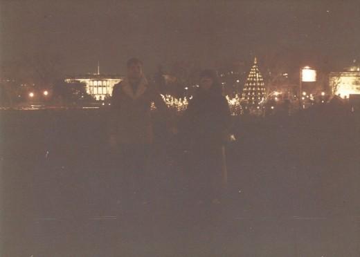 White House at night, December 1987.