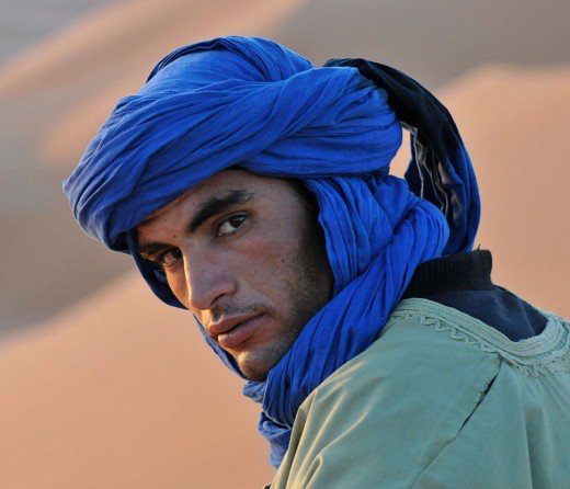 Persian man desert wearing traditional clothes.