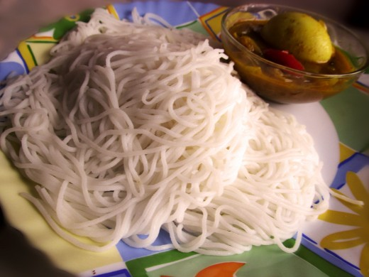 Idiyappam- South Indian special noodle made from Rice