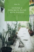 How to Extend Your Concrete Patio With Pavers