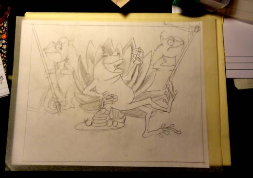 Sketch for The Frog King