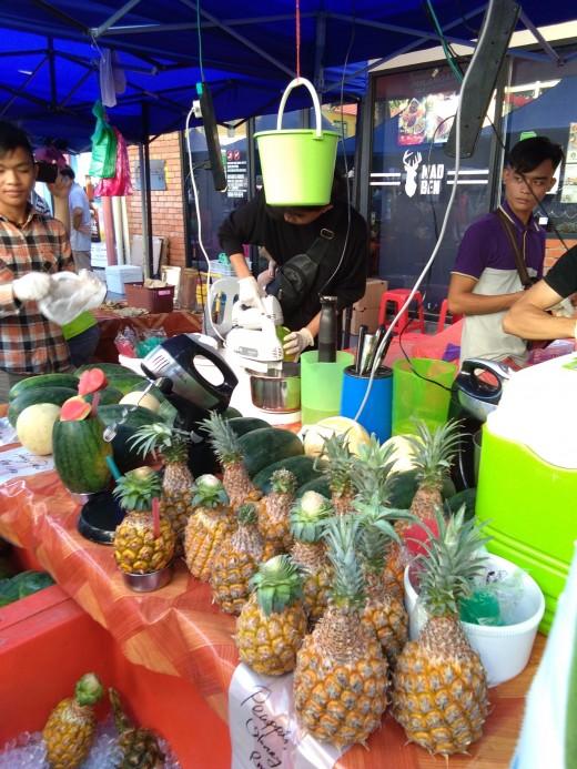 fresh fruits and fruit shakes
