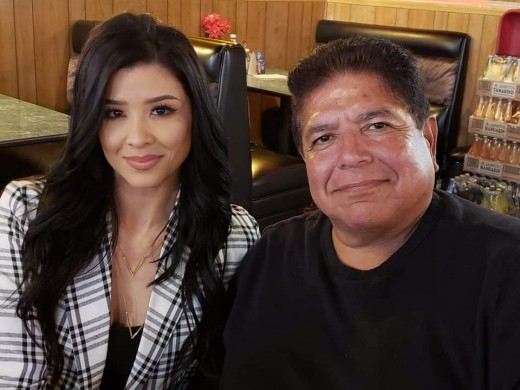 Round 2 Music label CEO, Charlie Perez with his label's break out star singer ~ Brittany Nicole.