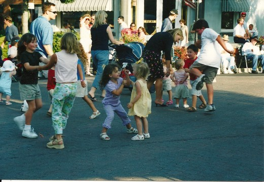 Dancing in the Street at the Farmer's Market