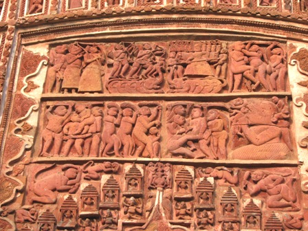 Scenes from Ramayana, the famous Indian epic.Panel on a Shiva temple @ Antpur.