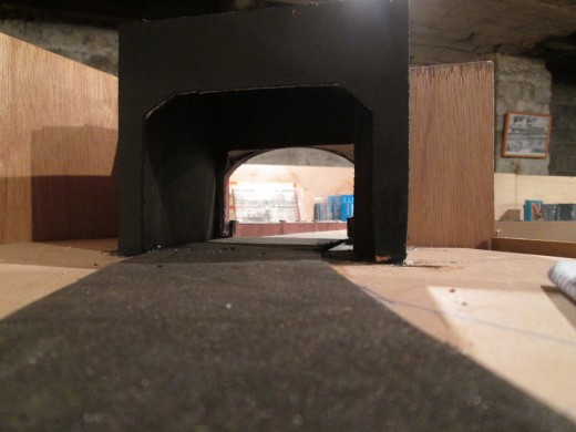 The view through the baffle portal, another piece of 6mm board cut to size and shape