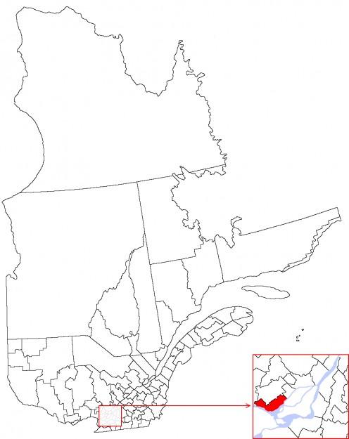 Map location of Municipalité régionale de comté de Deux-Montagnes / Deux-Montagnes Regional County Municipality, Quebec