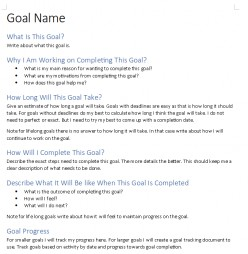 My Long Term Goal System