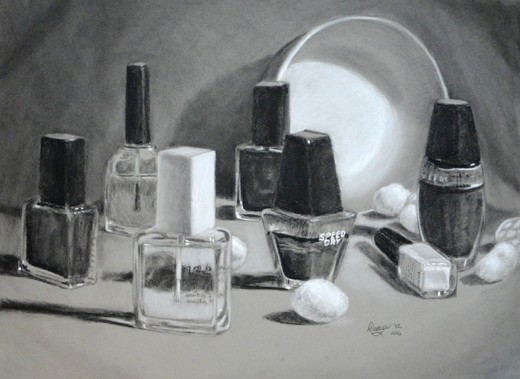 A study in nail polish bottles.