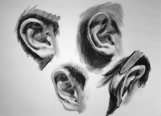 Exercise drawing ears