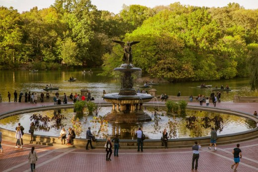 Bethesda Fountain in Central Park--for many years a favorite destination!