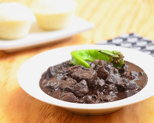 Dinuguan is Pork's Blood Stew.