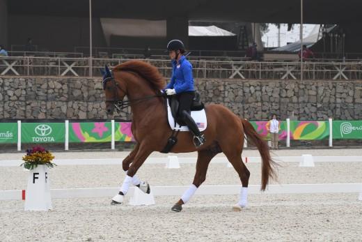 Sarah Lockman riding First Apple.