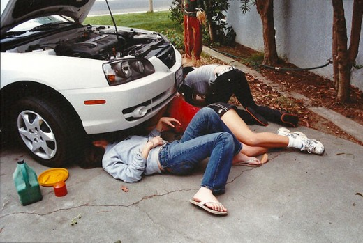 They learned how to change the oil in the car and even taught others.