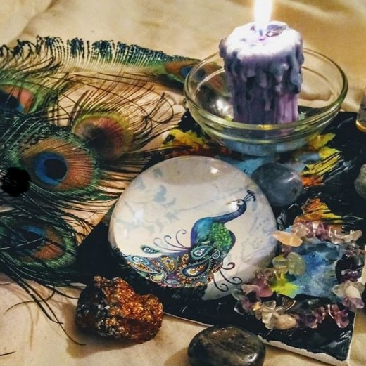 I started to use new moon magic to inspire me.  In addition, I also worked with different tool kits that I created.