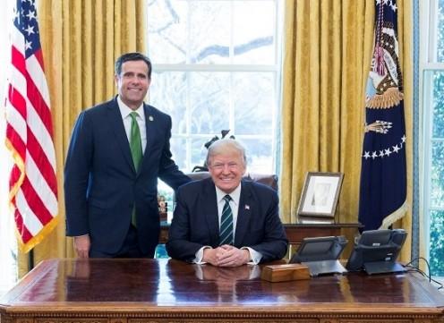 John Ratcliffe of Texas and Donald Trump.