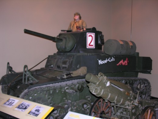 A Stuart tank at the Marine Corps Museum