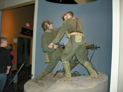 Marine Corps Museum, Outside the World War I section