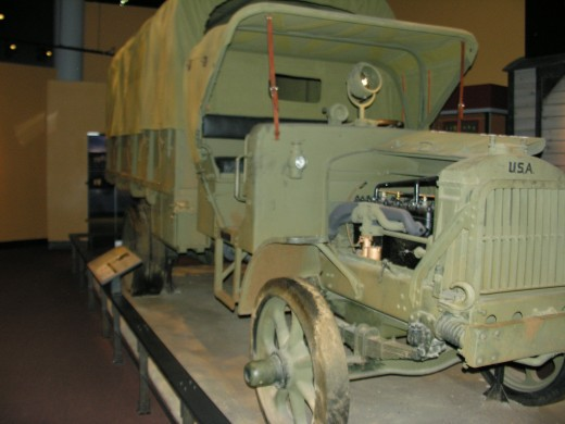 A World War I vehicle at the Marine Corps Museum,