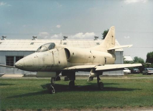 An A-4 Skyhawk, near the Marine Air-Ground museum, Quantico