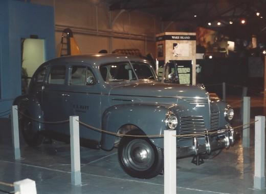 A World War II staff car  at the Marine Air-Ground museum.