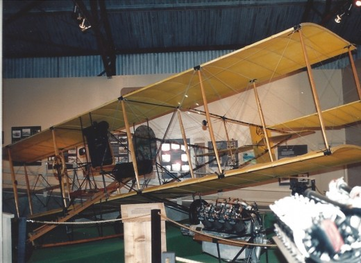 Early Marine Corps aircraft  at the Marine Air-Ground museum..