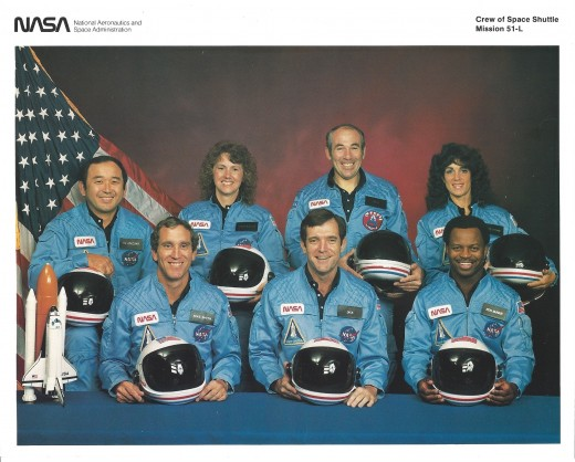 A NASA photograph of the crew of Mission STS-51-L.  NASA gave me this photo in response to a letter on an unrelated matter.