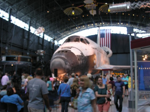 The Space Shuttle Discovery at the Udvar-Hazy Center, June 2015.