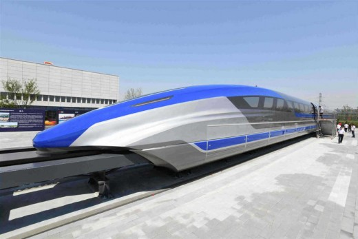 China has revealed a sleek aerodynamic prototype maglev train that is designed to travel up to 372 mph (600 km/h). It is expected to be in operation within a decade.